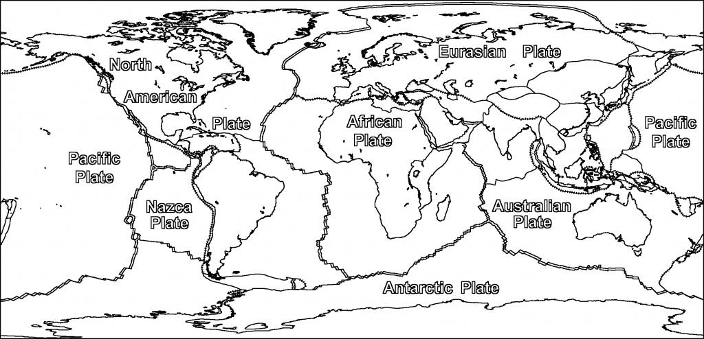 Plate Tectonics Coloring Pages - Ronniebrownlifesystems - World Map Tectonic Plates Printable