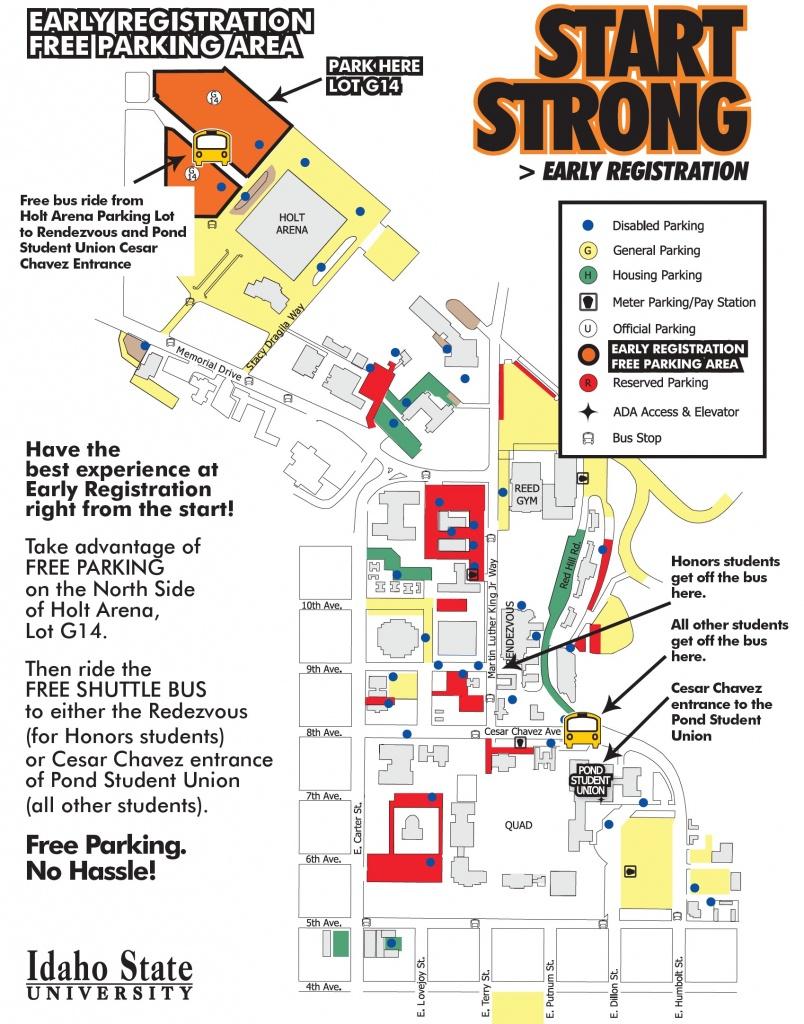 Pocatello Campus Maps | Idaho State University - Boise State University Printable Campus Map