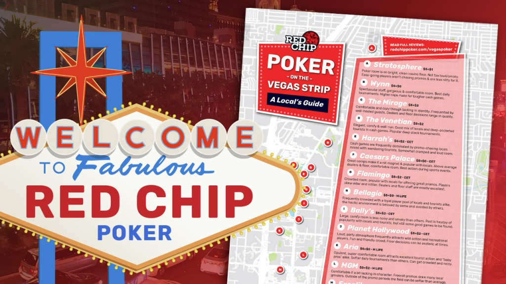 Poker Rooms Of The Vegas Strip: A Local's Guide (Updated 2019)   Red - California Poker Rooms Map