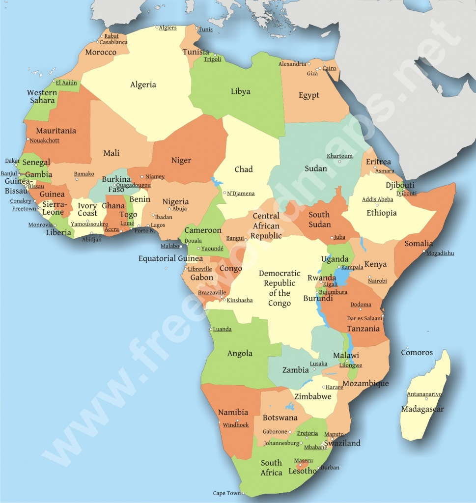 Political Map Of Africa Countries And Capitals I Road Maps Africa - Printable Map Of Africa With Countries And Capitals