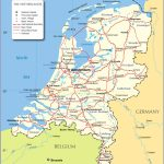Political Map Of Netherlands   Nations Online Project   Printable Map Of The Netherlands