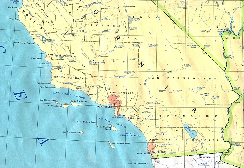 Political Map Of Southern California - Full Size | Gifex - Map Of Southeastern California