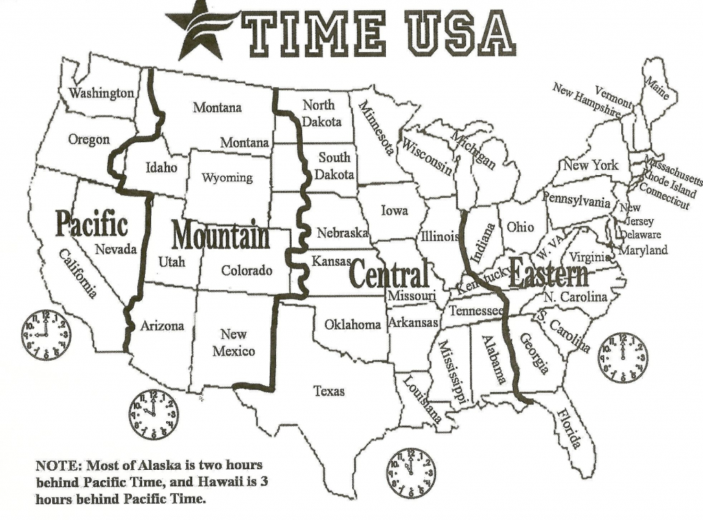 Political Map Of The Us 1964 1964 New Printable Map United States - Printable Us Time Zone Map With State Names