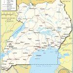 Political Map Of Uganda   Nations Online Project   Printable Map Of Uganda