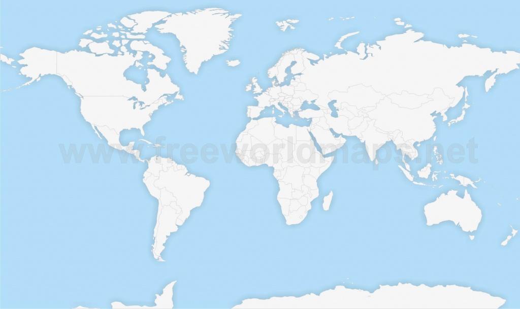 Political World Maps - World Political Map Outline Printable