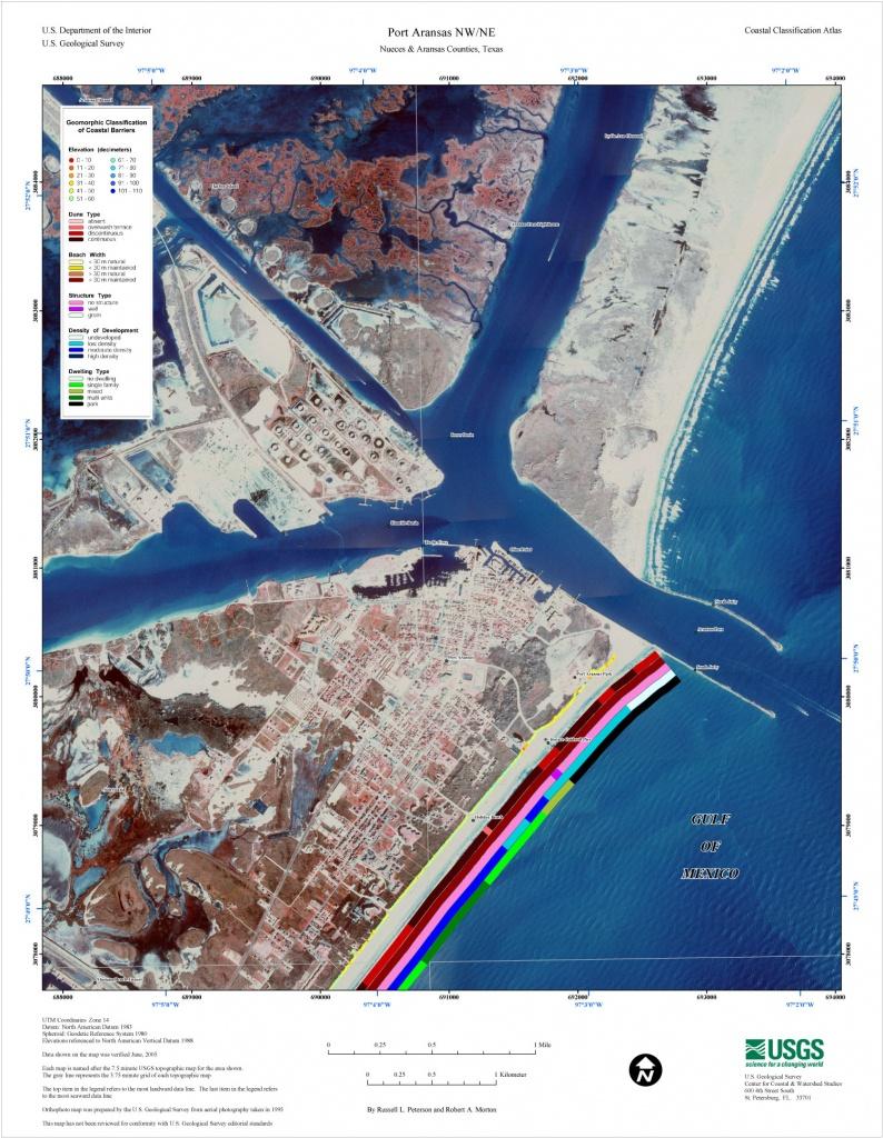 Port Aransas Nw/ne - Central Texas Coastal Classification Maps - Map Of Port Aransas Texas Area
