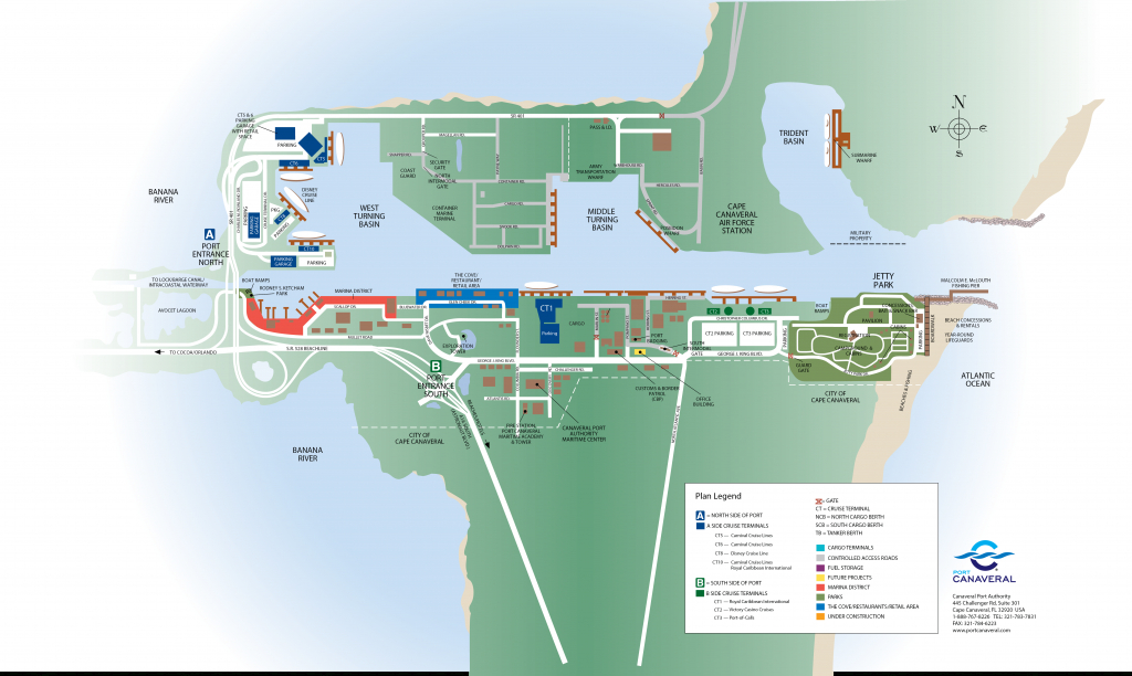 Port & Cruise Facts - Map Of Cruise Ports In Florida