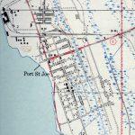 Port St. Joe, 1943   St Joe Florida Map
