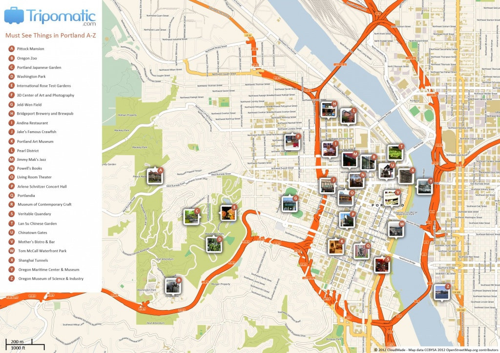 Portland Printable Tourist Map In 2019 | Travel Tips And Maps - Printable Map Of Portland Oregon