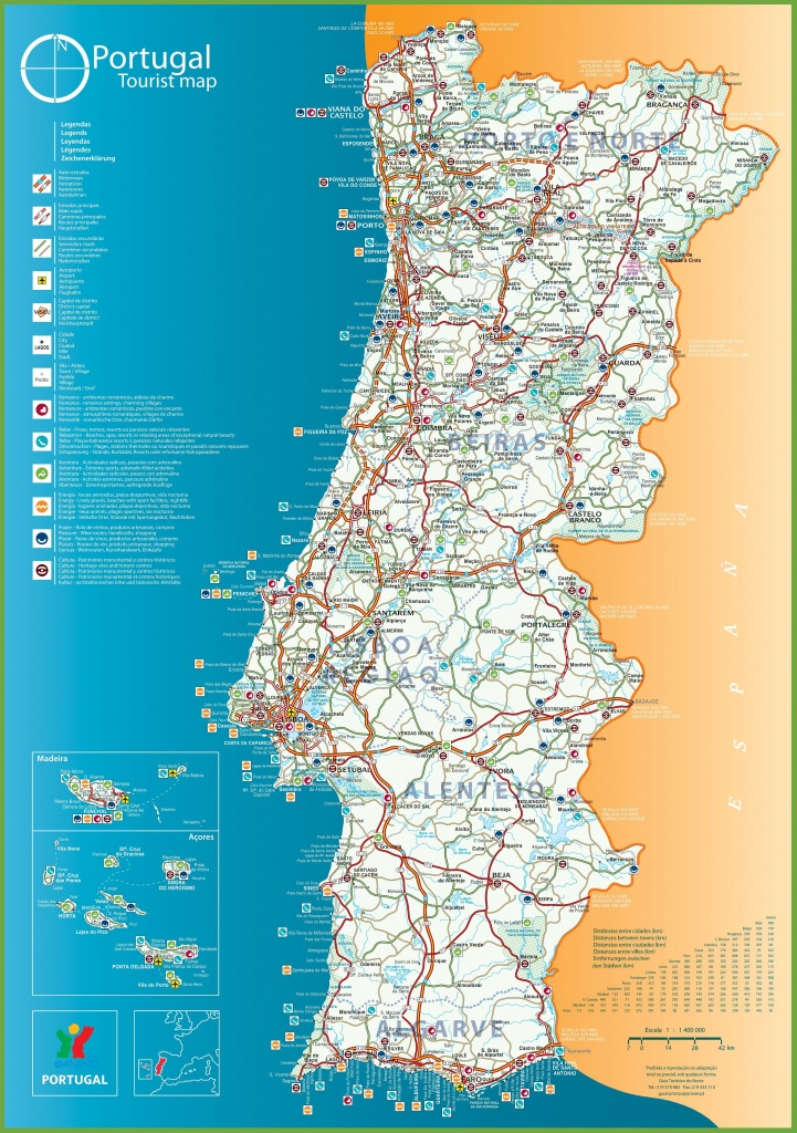 Portugal Tourist Map - Printable Map Of Portugal