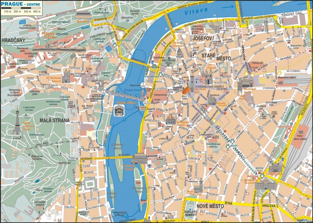 Prague City Center Map - Printable Map Of Prague City Centre