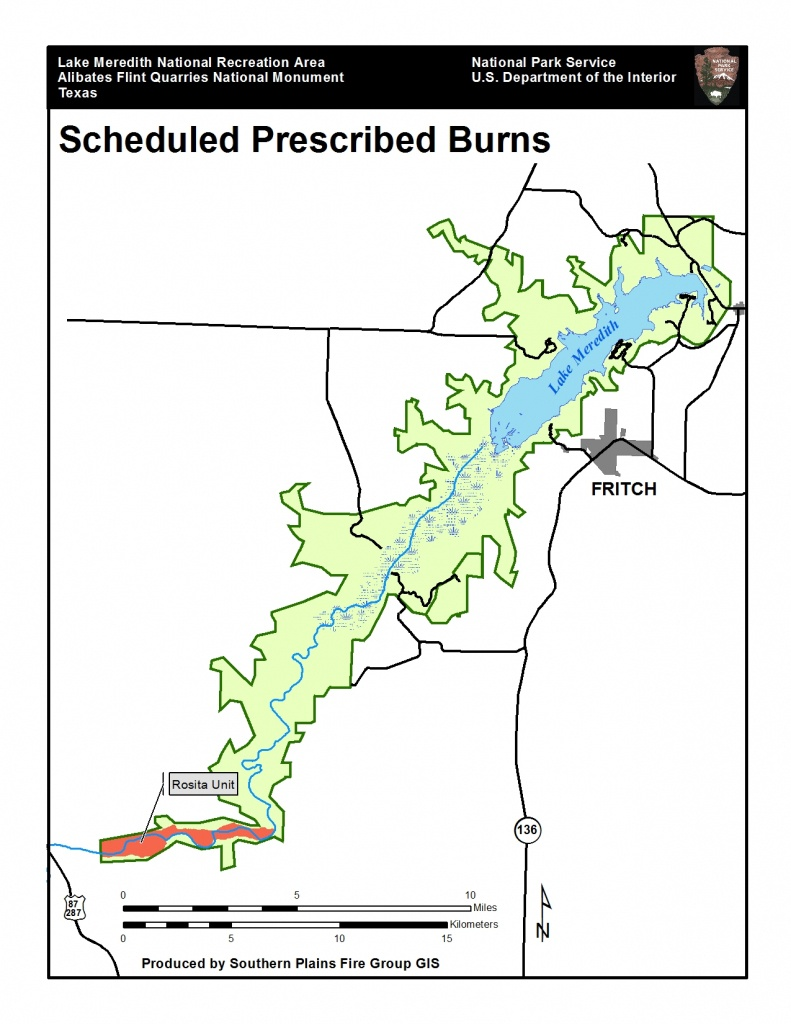 Prescribed Burn Planned For Lake Meredith National Recreation Area - Fritch Texas Map