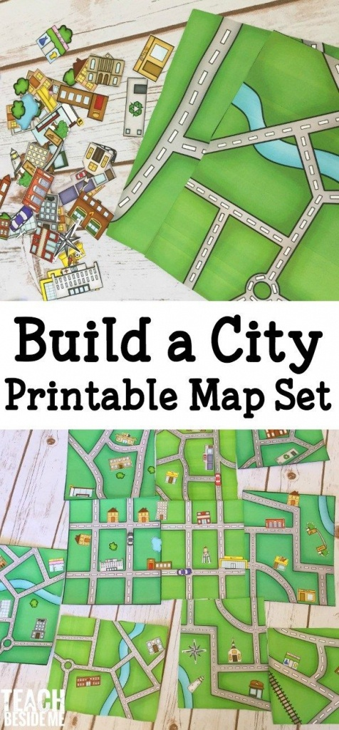 Pretend Play – Printable City Map | Game | Map Activities, Teaching - Community Map For Kids Printable