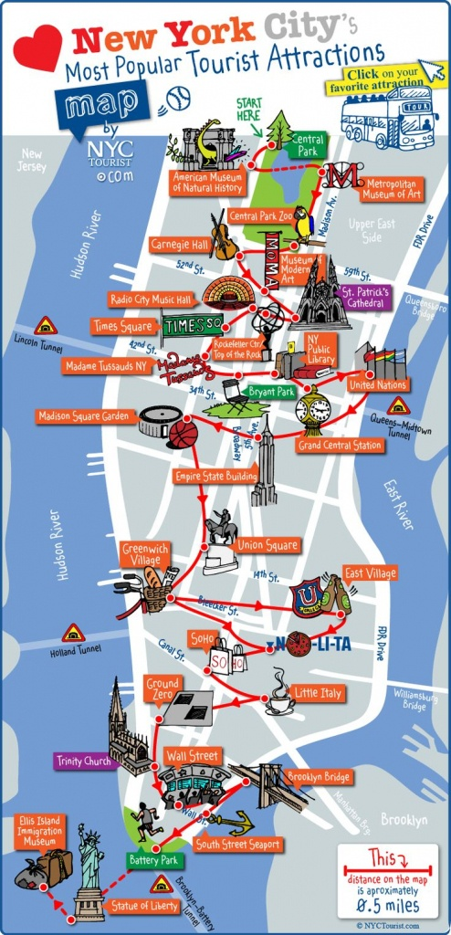 Print-Printable-Pdf-Manhattan-Attractions-Map-Large - Printable Map Of Manhattan Pdf