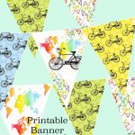 Printable Bike Bunting Map Banner Birthday Party Garland | Etsy - Printable Map Banner