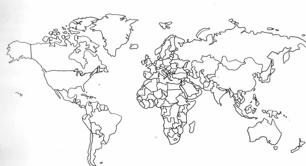 Printable Black And White World Map With Countries 13 1 - World Wide - Printable World Map With Countries Black And White