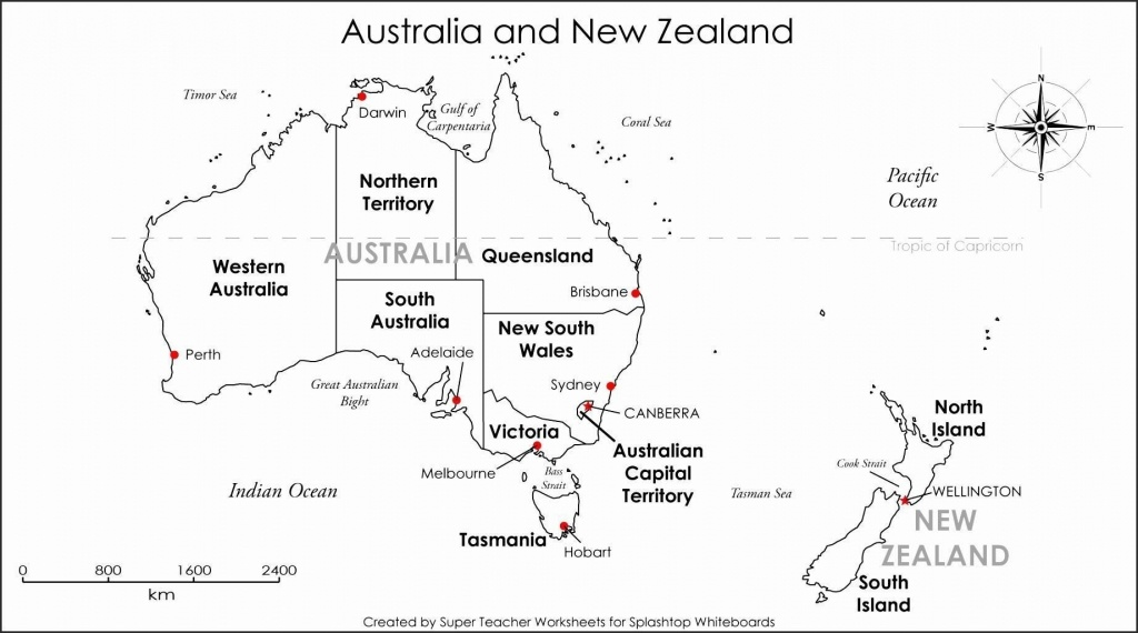 Printable Blank Map Australia Diagram Inside Of Noavg Me With States - Printable Map Of Australia With States And Capital Cities