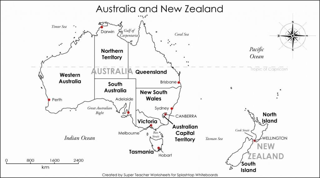 Printable Blank Map Australia Diagram Inside Of Noavg Me With States - Printable Map Of Victoria Australia