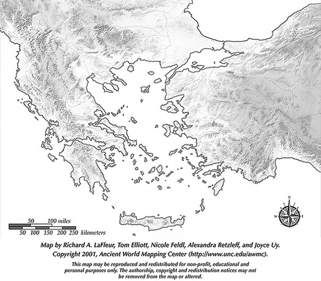 Map Of Ancient Greece Printable   Printable Maps