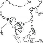 Printable Blank Map Of Asia Coloring Pages For Kids And World Page   Printable Map Of Asia For Kids