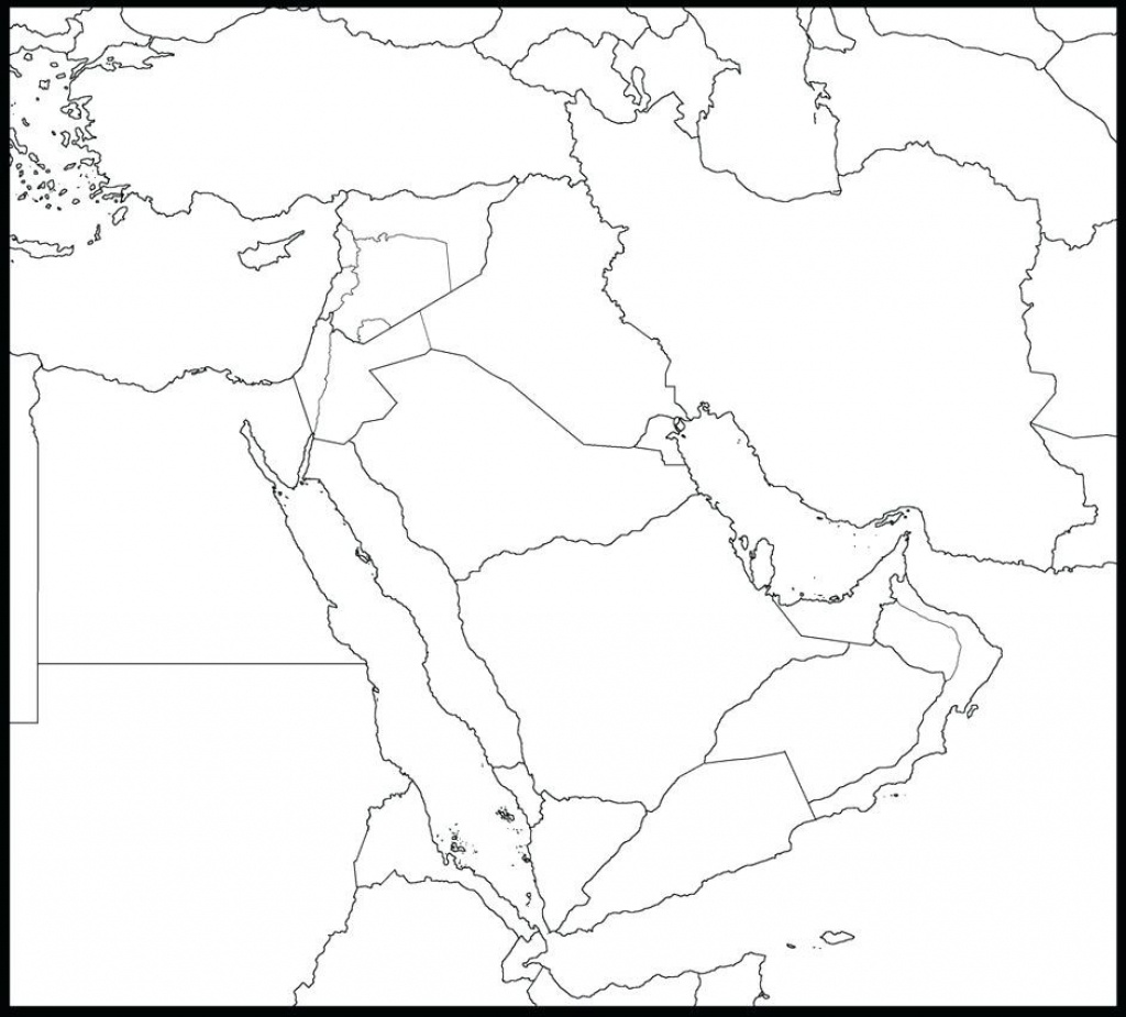 Printable Blank Map Of Middle East Maps The Black And White Big 10 - Printable Blank Map Of Middle East
