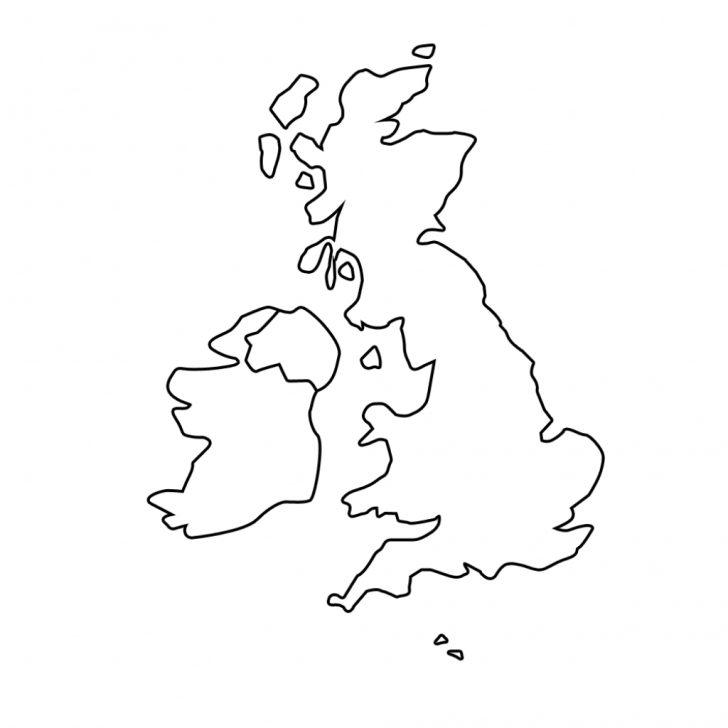 Blank Map Of Scotland Printable
