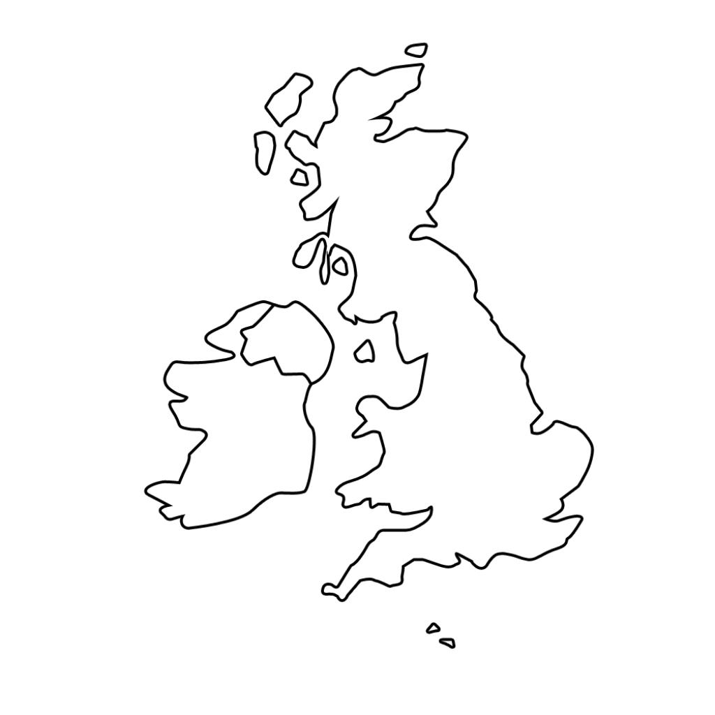 Printable Blank Map Of The Uk - Free Printable Maps - Printable Blank Map Of Ireland