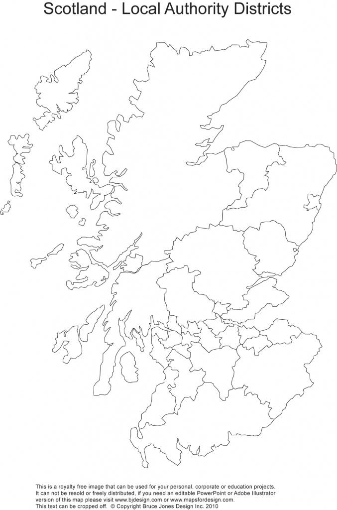 Printable, Blank Uk, United Kingdom Outline Maps • Royalty Free - Blank Map Of Scotland Printable