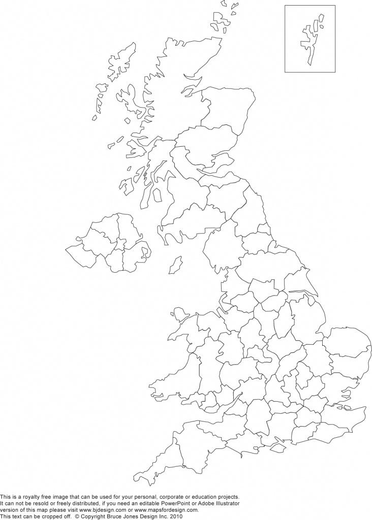 Printable, Blank Uk, United Kingdom Outline Maps • Royalty Free - Outline Map Of England Printable