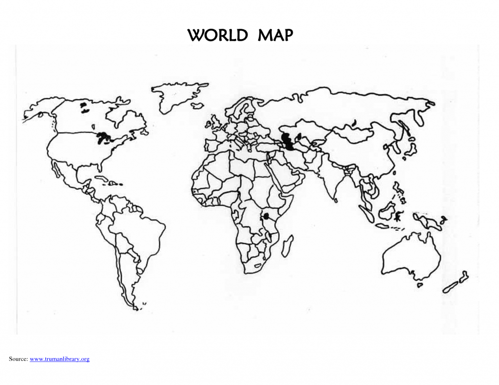 Printable Blank World Map Countries | Design Ideas | Blank World Map - Printable Blank World Map With Countries