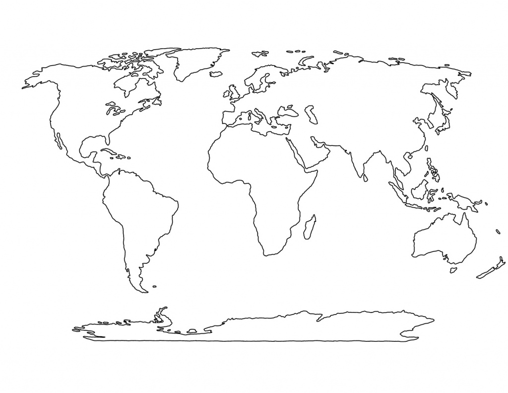 Printable Blank World Map Template For Students And Kids - Printable Blank Maps