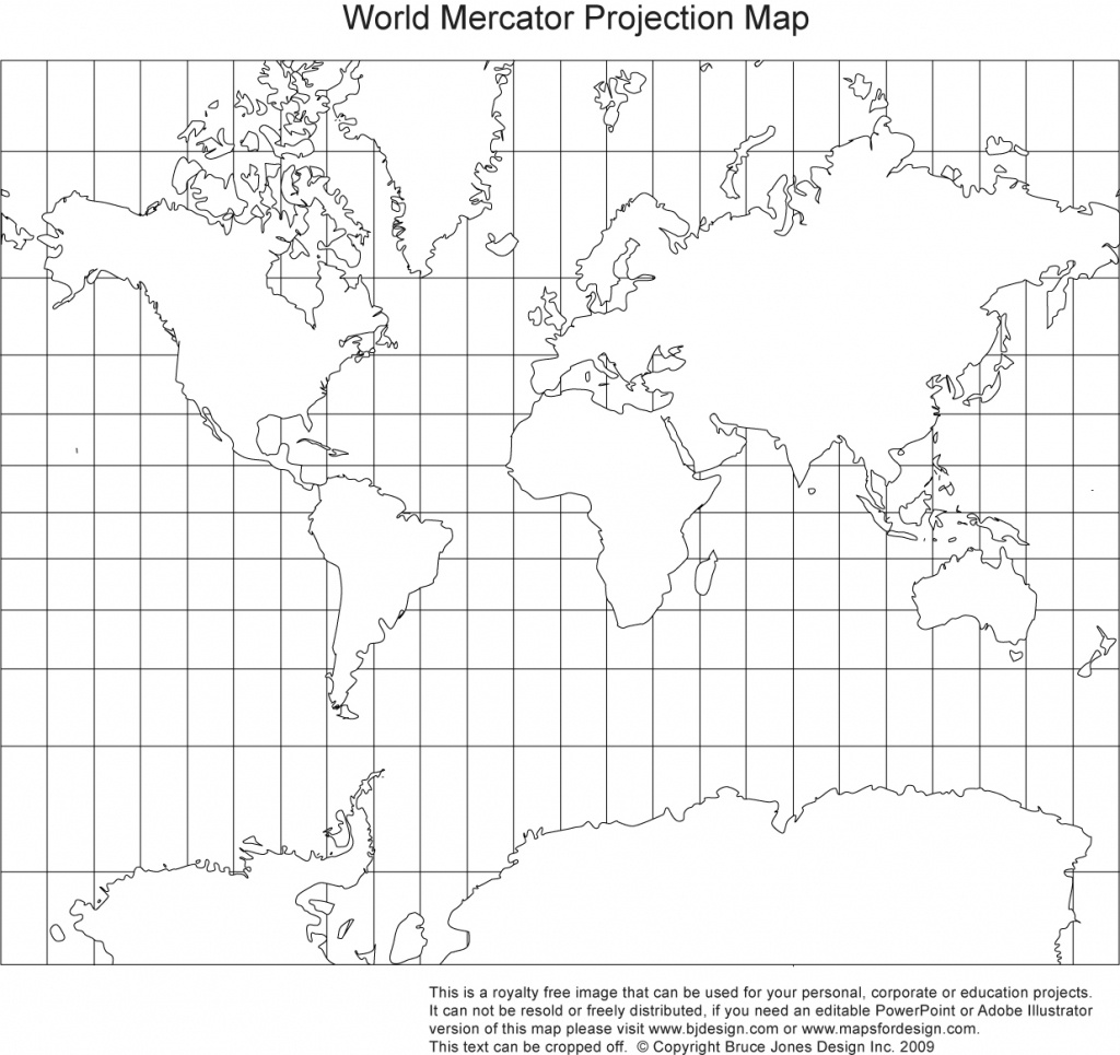 Printable, Blank World Outline Maps • Royalty Free • Globe, Earth - Blackline World Map Printable Free