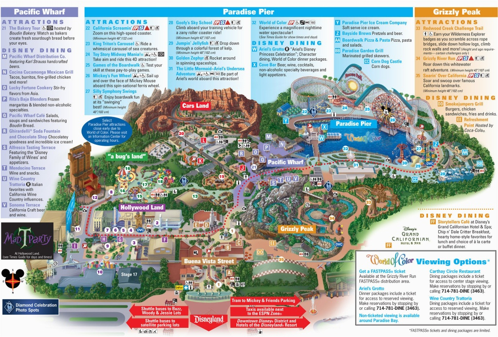 Printable California Adventure Map Printable Map Disneyland And - Printable California Adventure Map