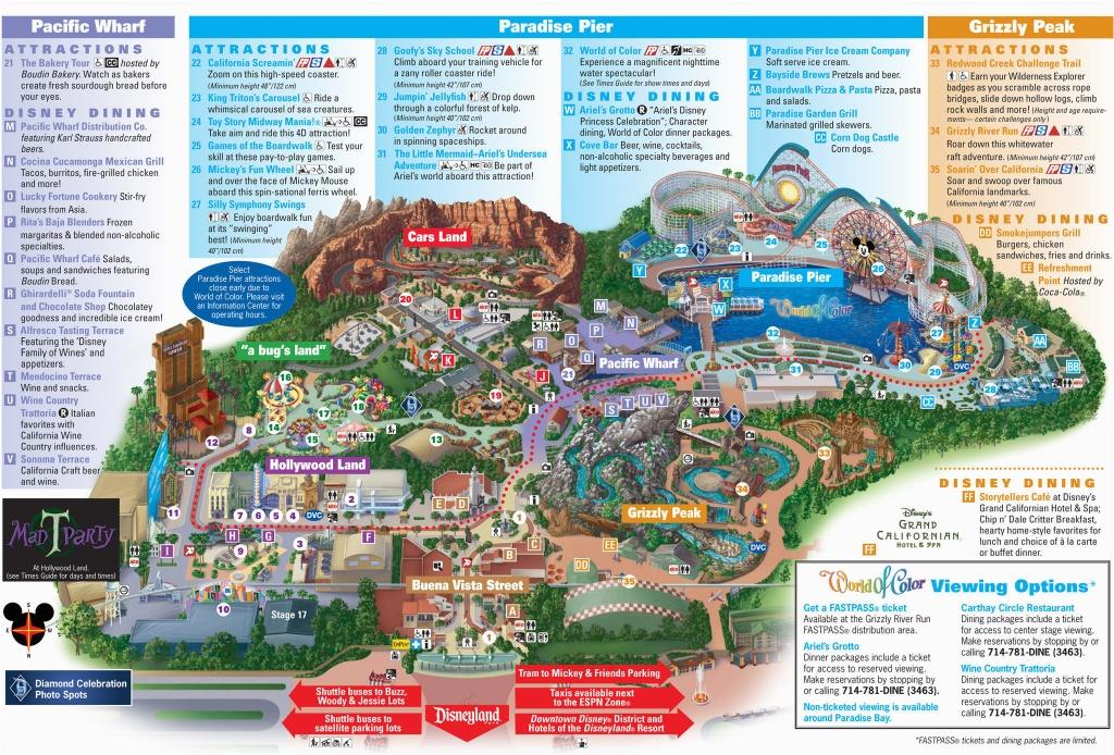 Printable California Adventure Map Printable Map Disneyland And - Printable Map Of Disneyland And California Adventure