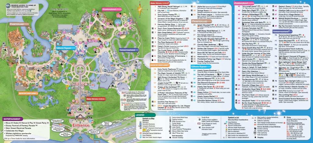 Printable Disney World Maps - Design Templates - Printable Disney World Maps 2017