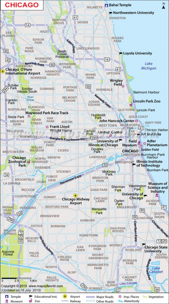 Printable-Large-Chicago-Map - Printable Map Of Chicago