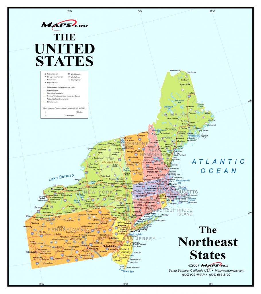 Printable Map Northeast Region Us America Pathwayto Me With Of North - Printable Map Of Northeast Us