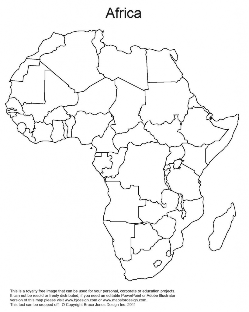 Printable Map Of Africa   Africa World Regional Blank Printable Map - Free Printable Map Of Africa