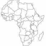 Printable Map Of Africa | Africa World Regional Blank Printable Map - Printable Map Of Africa