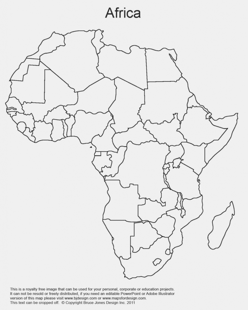 Printable Map Of Africa | Africa World Regional Blank Printable Map - Printable Map Of Africa With Countries