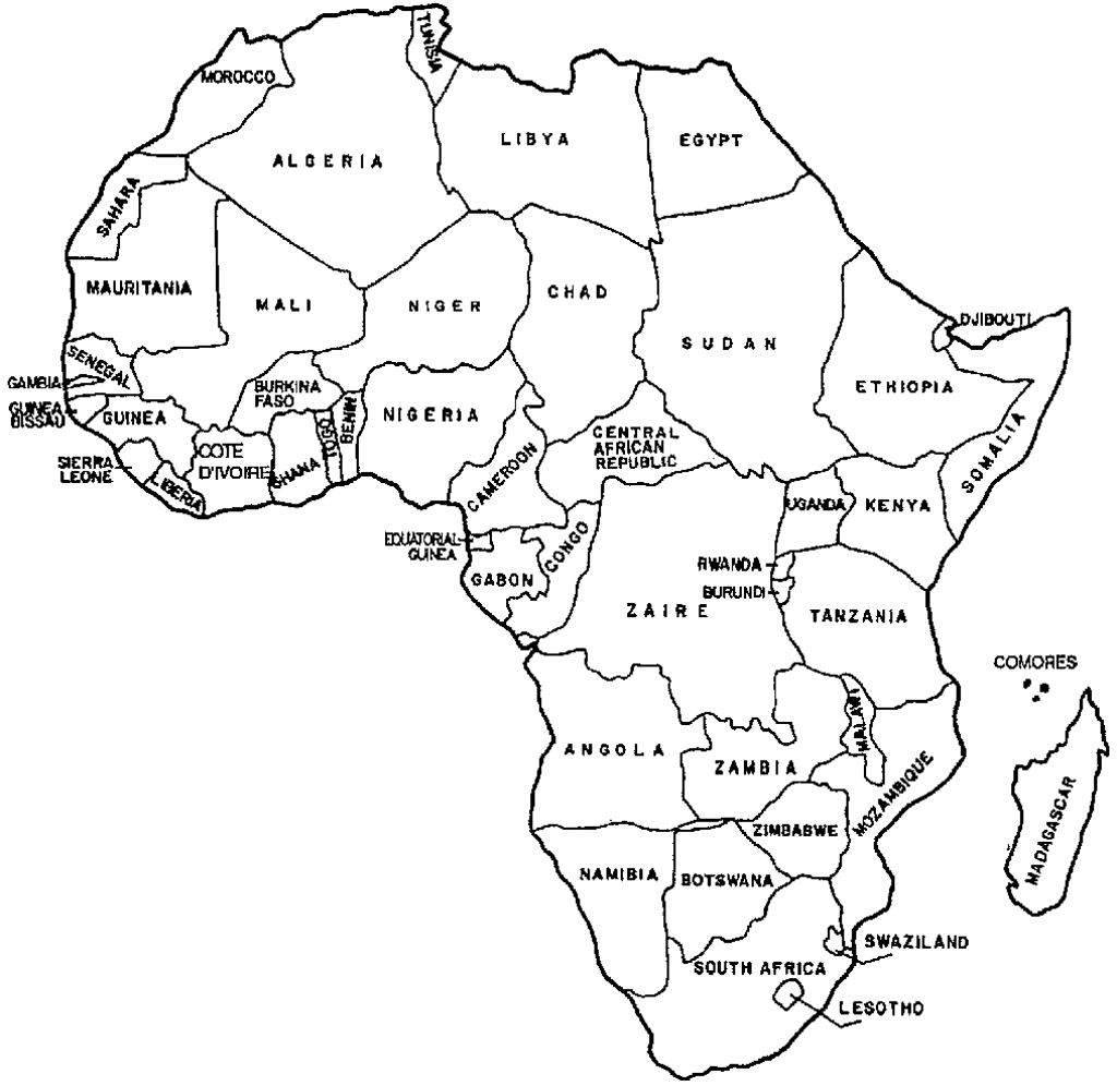 Printable Map Of Africa And Travel Information | Download Free - Printable Map Of Africa With Countries