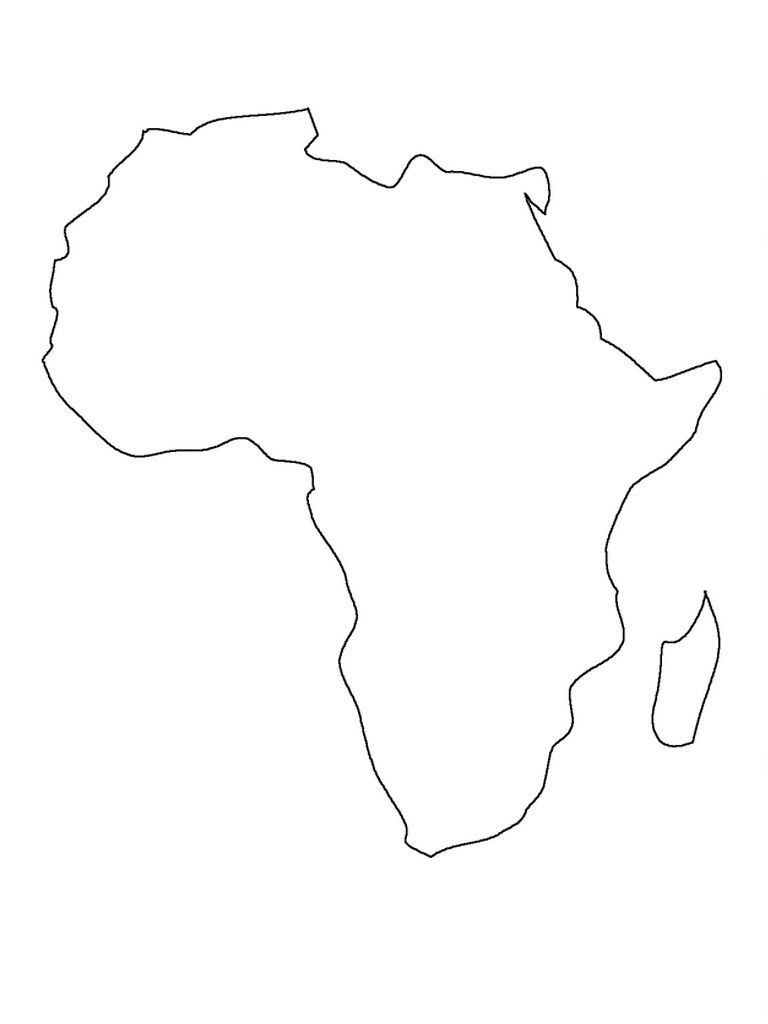 Printable Map Of Africa | Preschool | Africa Map, South Africa Map - Map Of Africa Printable Black And White