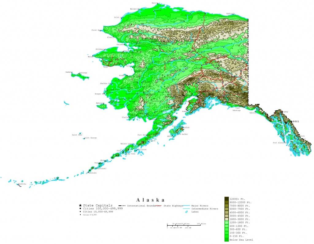 Printable Map Of Alaska And Travel Information   Download Free - Free Printable Map Of Alaska