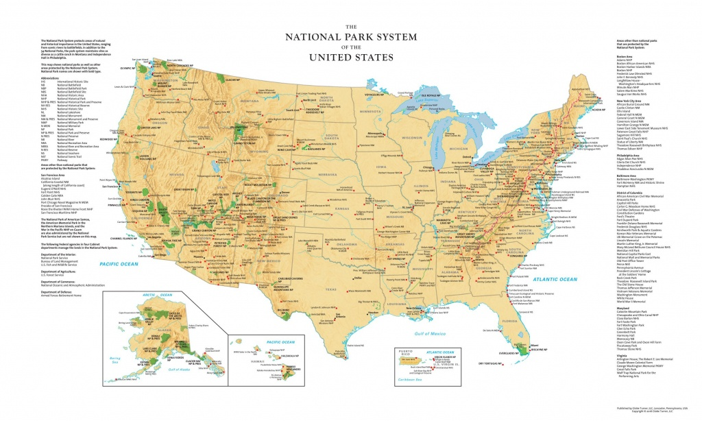 Printable Map Of All National Parks | D1Softball - National Atlas Printable Maps