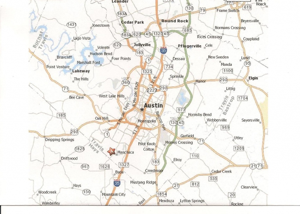 Printable Map Of Austin Texas And Surrounding Cities Neighborhoods - Printable Map Of Austin Tx