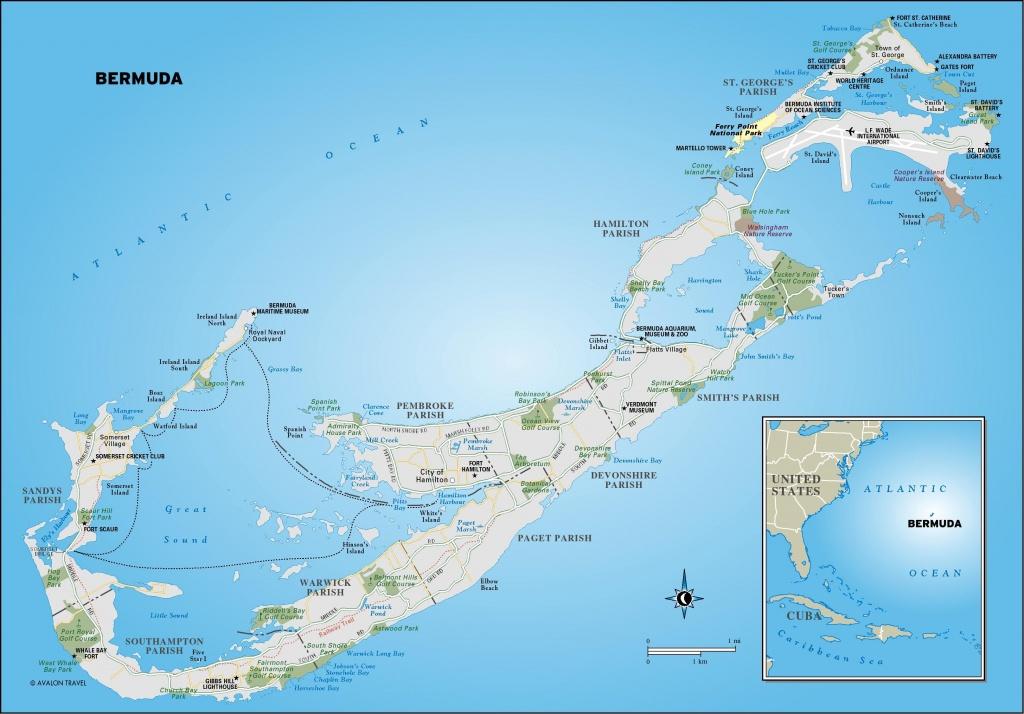 Printable Map Of Bermuda | Map Of Bermuda. Free Download Large - Printable Map Of Bermuda