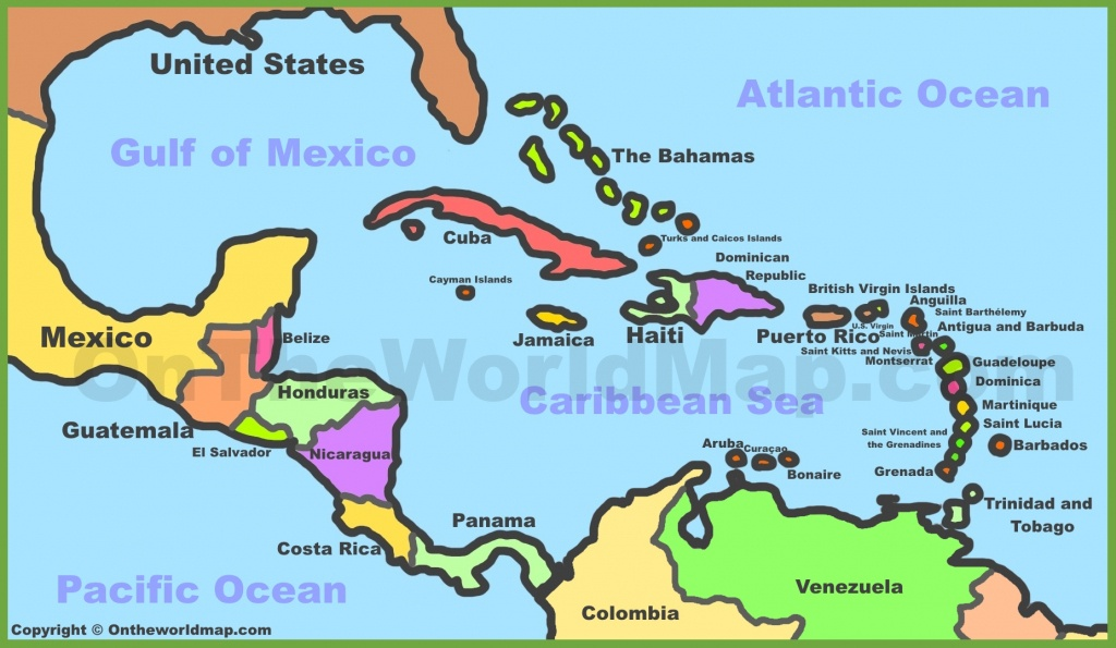 Printable Map Of Caribbean Islands And Travel Information | Download - Maps Of Caribbean Islands Printable