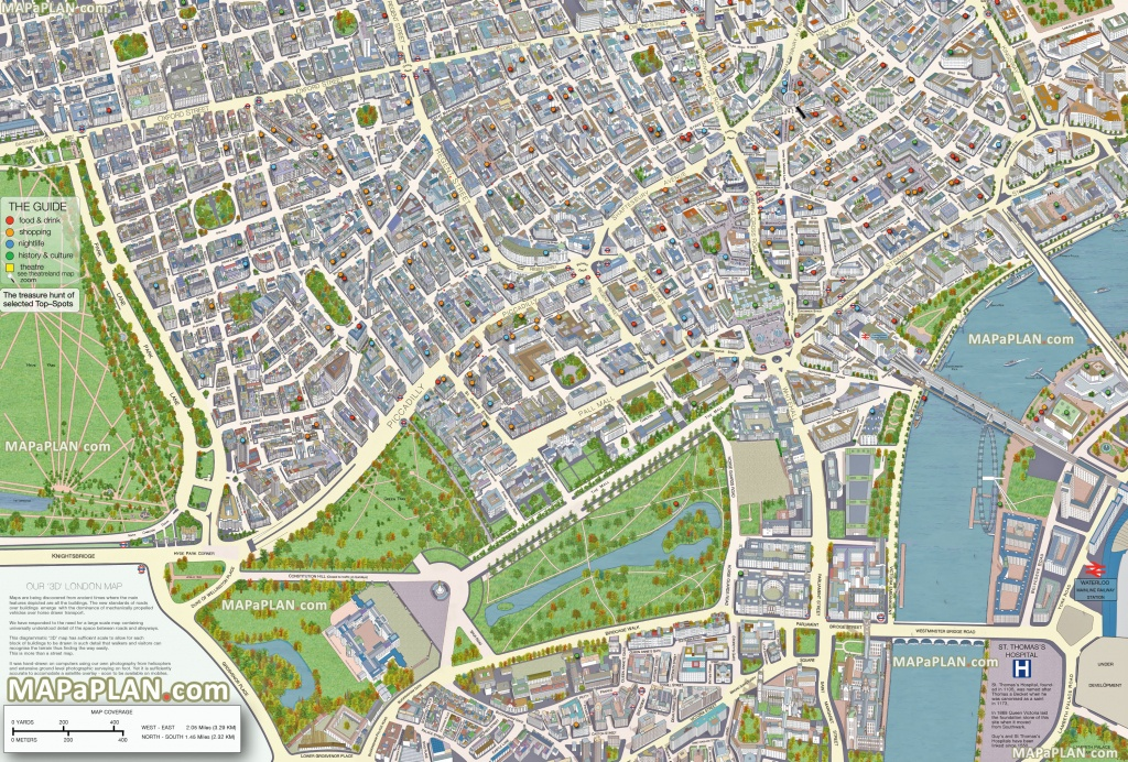 Printable Map Of Central London Best Printable Maps London Top - Free Printable Aerial Maps