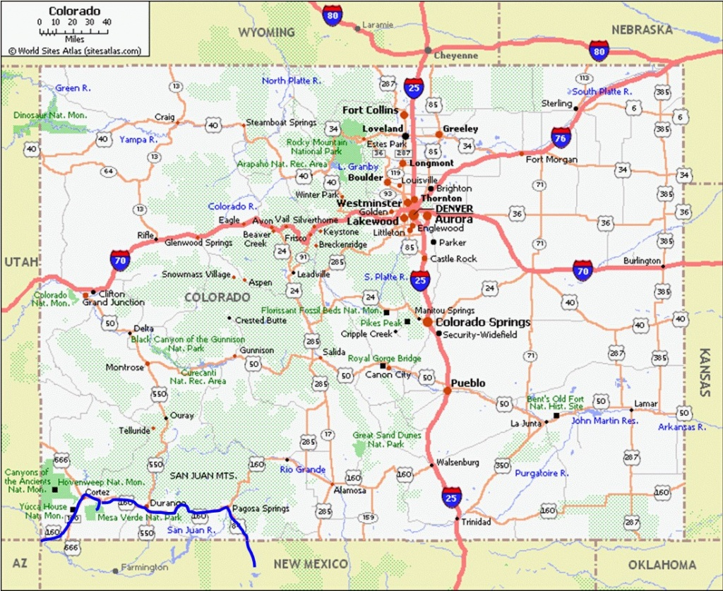 Printable Map Of Colorado Cities And Towns | D1Softball - Printable Map Of Colorado Cities