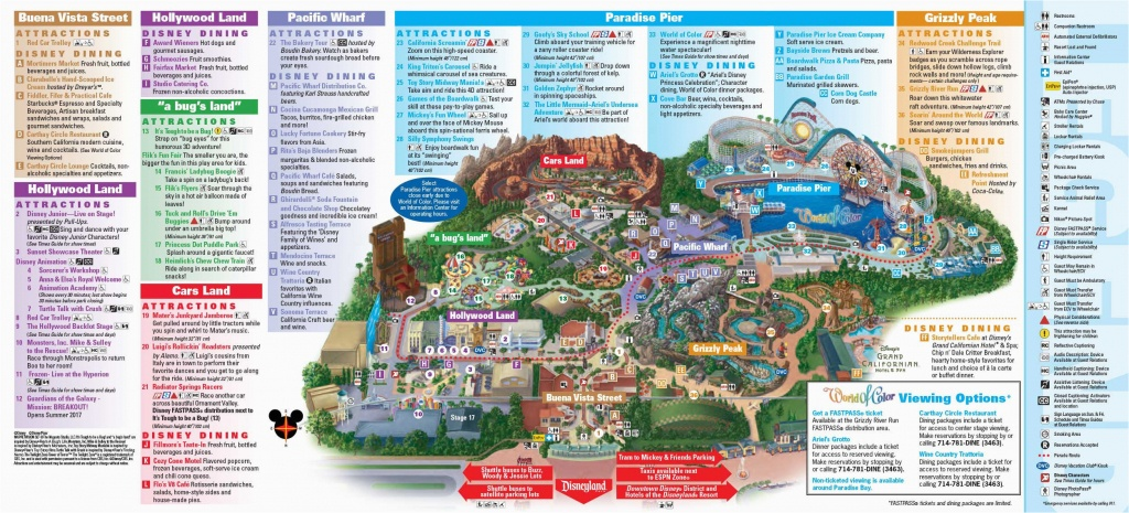 Printable Map Of Disneyland And California Adventure Disneyland - Printable Map Of Disneyland And California Adventure